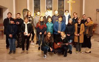 Młodzieżowe spotkanie z diakonem Marcinem